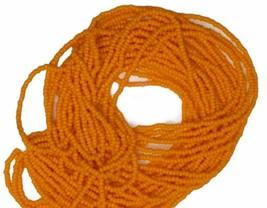 Preciosa Czech glass Orange opaque 11/0 seed beads - 1 Hank  - $4.75