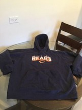 Chicago Bears Blue Reebok Hoodie Sweatshirt Large Good Condition - $14.30