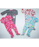 LOT OF 4  BABY GIRLS 24M COZY FLEECE SLEEPERS PAJAMAS FOOTED CARTERS 24 M - $19.79