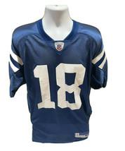 Vintage Peyton Manning Indianapolis Colts Reebok NFL Blue Football Jerse... - $24.99