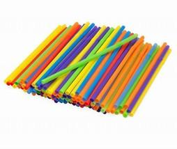 NIP Kizmos 3 PACKS of 125 Count (375 counts) Jumbo Flex Straw Assorted C... - $20.95