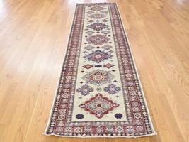 "2'8""x9'9"" HandKnotted Pure Wool Super Kazak Tribal Design Runner Rug G40208 - $537.68"