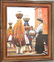 Irving Toddy Navajo Original Oil Painting ACOMA PUEBLO STOP Award Winnin... - $18,867.00