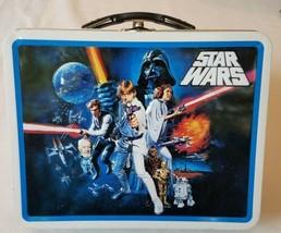 Star Wars Lunchbox Tin Box Luke Leia Han Darth Vader R2D2 3CPO Lucasfilm... - $19.79