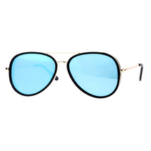 Flat Mirror Lens Sunglasses Designer Fashion Side Cover Aviators - $11.95