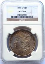1885O MORGAN SILVER DOLLAR COIN MS64+ Obverse Toning NGC Lot # SR 404
