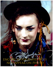 BOY GEORGE  Authentic Original  SIGNED AUTOGRAPHED 8X10 w/ COA 1328 - $60.00