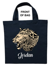 Ferocious Lion Trick or Treat Bag, Custom Ferocious Lion Halloween Loot Bag - $11.99+