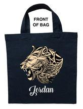 Ferocious Lion Trick or Treat Bag, Custom Ferocious Lion Halloween Loot Bag - $11.99+