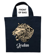 Ferocious Lion Trick or Treat Bag, Custom Ferocious Lion Halloween Loot Bag - $11.39+
