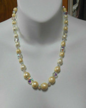 Crystal, Bead & Faux Pearl Necklace - $22.76