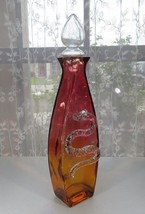 Important bottle colored pharmacy Apothecary jar container Snake Décor h... - $450.00