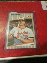 1989 Fleer Bill Ripkin Rookie Card - Black Box - $5.93