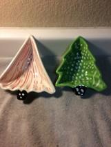 (2) BOSTON WAREHOUSE  CHRISTMAS TREE--CANDY DISHES--FREE SHIP--VGC - $19.59