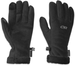 Small Women's Outdoor Research Outdoor Research Fuzzy Sensor Gloves Black NEW