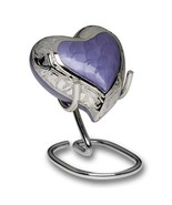 Small/Keepsake 5 Cubic Inch Purple Brass Heart Funeral Cremation Urn for... - $119.99