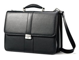 Ladies Samsonite Laptop Bag All Leather Briefcase Flapover Messenger For... - $137.98