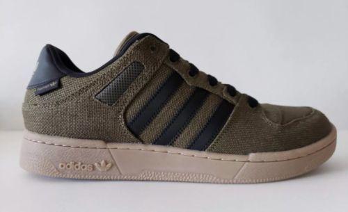 official photos 846b5 7e074 Adidas Bucktown Hemp Athletic Shoe Olive Black Hemp Gum Sole AC6980 Mens Sz  9.5
