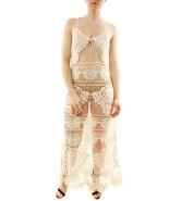 For Love & Lemons Womens Crochet Long SWMCD1031 Cover Up Ivory S - $92.16