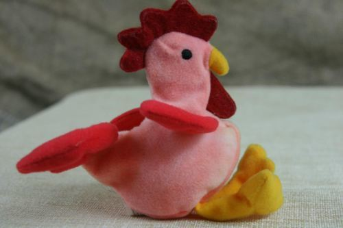 0b0dbf487b1 ... TY Beanie Babies Strut The Rooster Mini Ty Plush With Tags ...