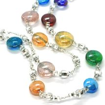 Necklace Antica Murrina Venezia CO905A38, Discs, Two Wires, Multicolour, 80 CM image 3