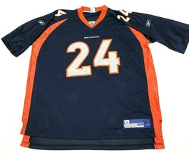 VINTAGE Reebok Champ Bailey Denver Broncos Football Jersey Men's Size 2XL XXL - $39.42