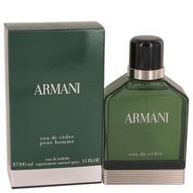 Giorgio Armani Eau De Cedre 3.4 Oz Eau De Toilette Cologne Spray  image 2