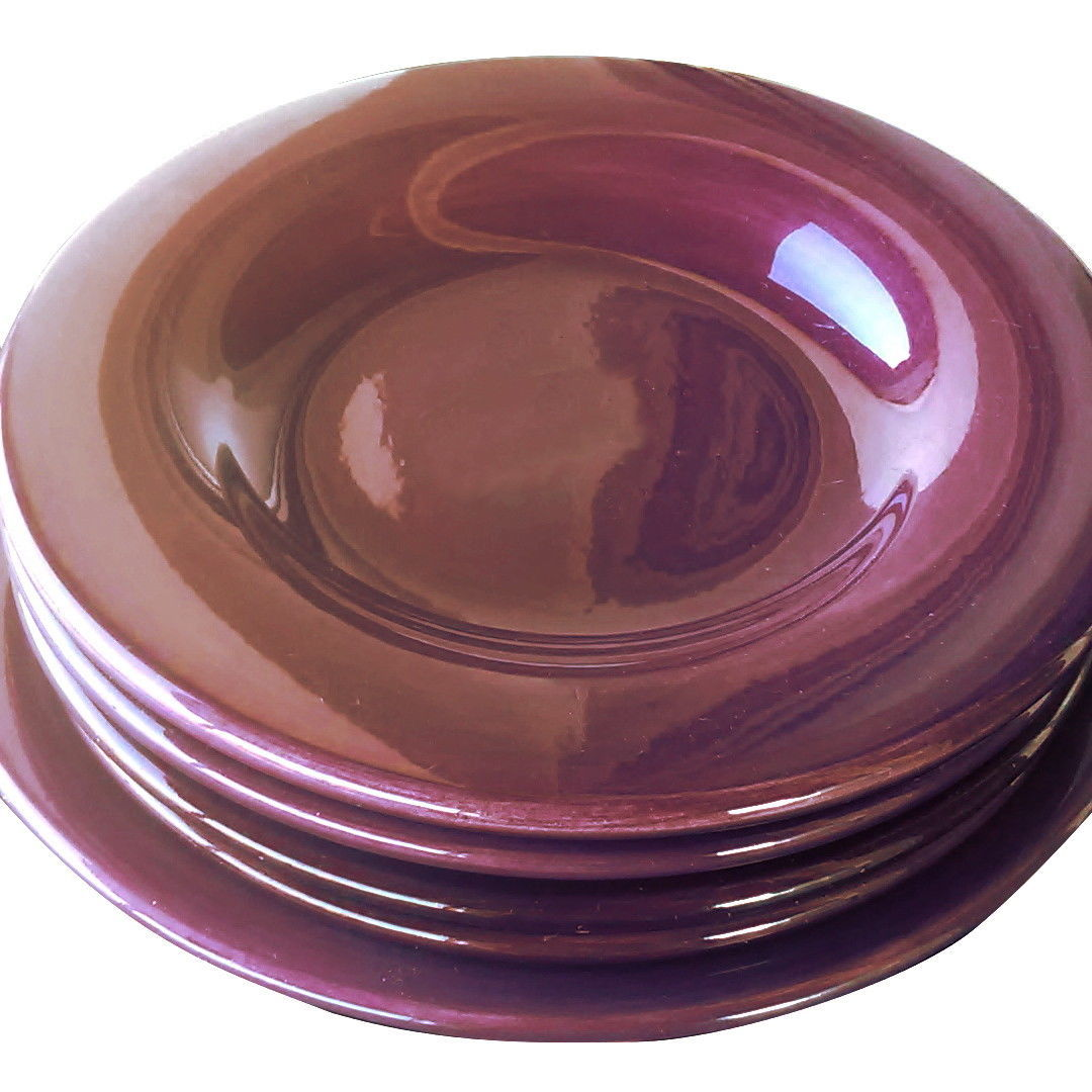 Set of 5 Tabletops Unlimited Large Purple/Plum Dinner Plates - ESPAÑA Collection - $59.35