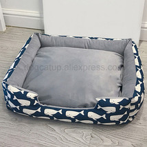 Detachable Canvas Pet Bed Warming Dog House(whale navy M) - $24.56