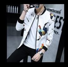2018 Spring and Autumn New Fashion Men's Slim Fit Black Jacket Men's Printing Br image 7