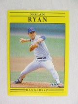 Nolan Ryan Texas Rangers 1991 Fleer Baseball Card 302 - $0.98