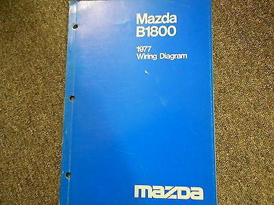 1977 Mazda B-1800 Truck Elektrisch Wiring Service Reparatur Shop Manuell 77