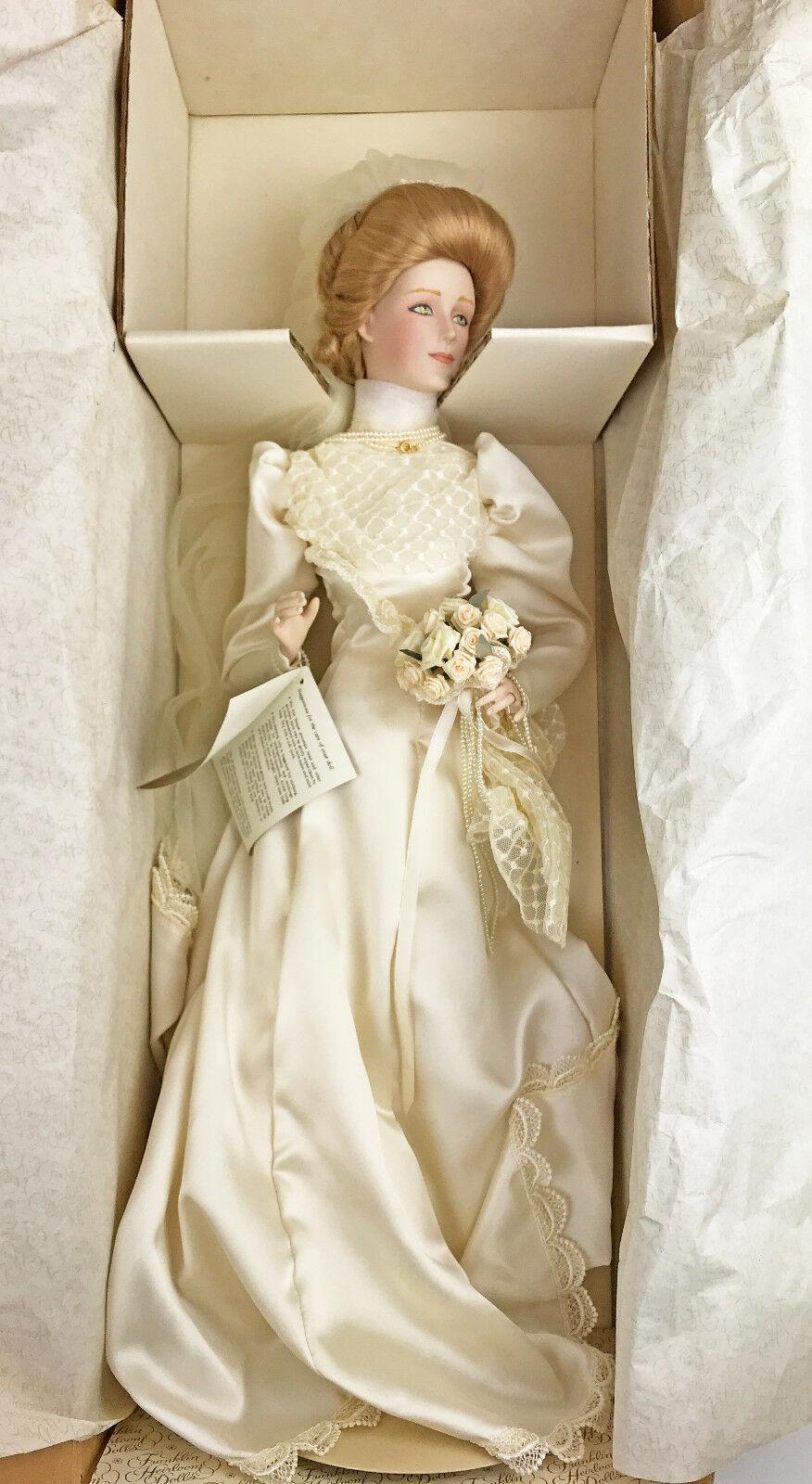 1990 S Franklin Mint Heirloom Porcelain Doll And 50 Similar Items