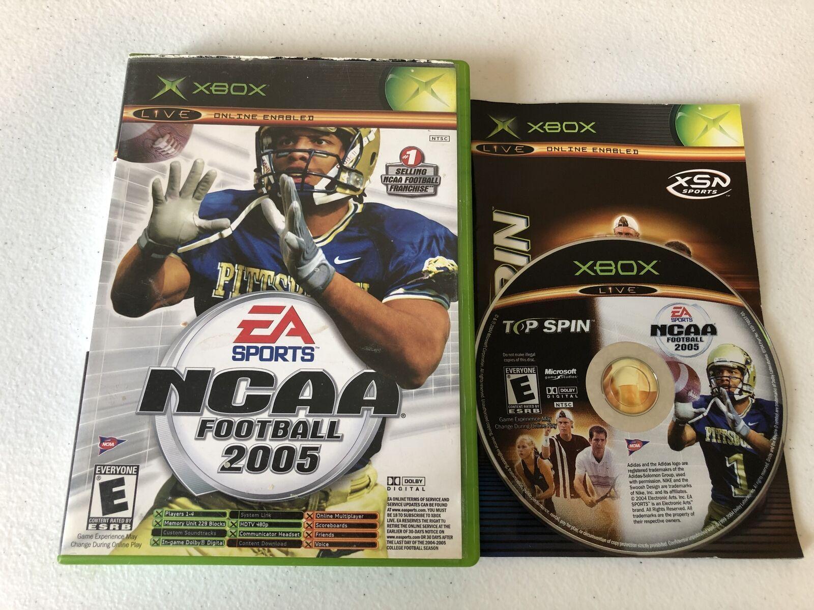 NCAA Football 2005 Top Spin Combo - Original Xbox - Complete CIB