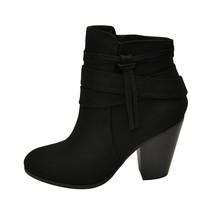 Soda ELISA-S Black Women's Strappy Tassel Ankle Booties - $37.95