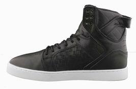 Supra Skytop LX Noir Tissé Cuir Blanc Semelle Hi Haut Skate Chaussures image 4