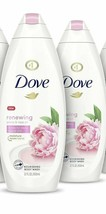2 PACK DOVE BODY WASH PEONY & ROSE OIL EFFECTIVELY WASHES AWAY BACTERIA   - $29.70
