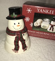 Yankee Candle Snowman Measuring Cups Winter Holidays Top Hat Orig Box As Is - $28.05