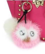 CMK Trendy Kids- 2 Genuine Rabbit Fur Pom Pom Charm For Bag And Keychai... - $12.23