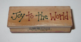 Joy To The World Rubber Stamp Holidays Wood Mounted Saying - $2.96