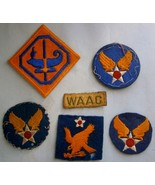 (6) WWII Patches,  Army Air Corps, WAAC - $26.60
