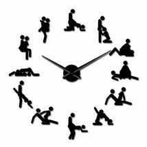 Funny Sex Position Large DIY Wall Clock Bachelorette Naughty KamaSutra D... - $28.70+