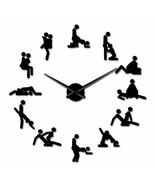 Funny Sex Position Large DIY Wall Clock Bachelorette Naughty KamaSutra D... - $30.86+