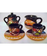 Terra Cotta Tea Set with Island Theme - $18.00
