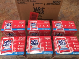 Wet Ones Singles - Fresh Scent - Case of 144 Individually-wrapped Wipes - $49.99