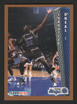 1992-93 Fleer - Shaquille O'neal - #401, Rookie Card - $6.92