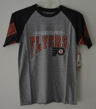 47 Brand Youth NHL Philadelphia Flyers Kids Scrum Black T Shirt Sz L Gray - $13.68