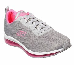 Skechers Shoes Women Gray Pink Memory Foam Sport Air Cushion Mesh Comfor... - $55.99