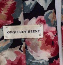 Geoffrey Beene Tie Floral Pink Green Peach Necktie Business Dress Career Vintage image 4