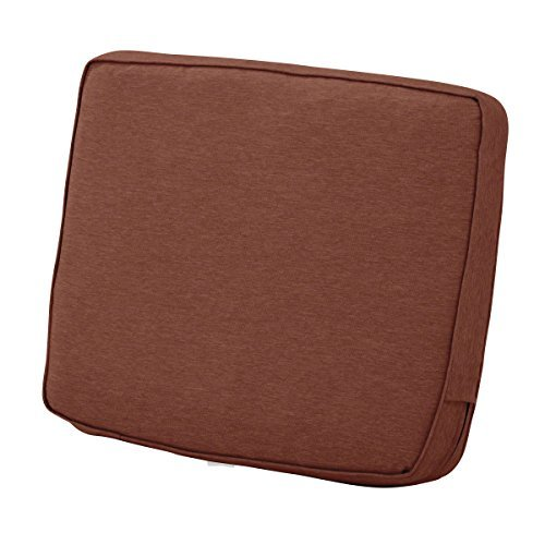 Classic Accessories Montlake Back Cushion Foam & Slip Cover, Heather Henna, 21x2